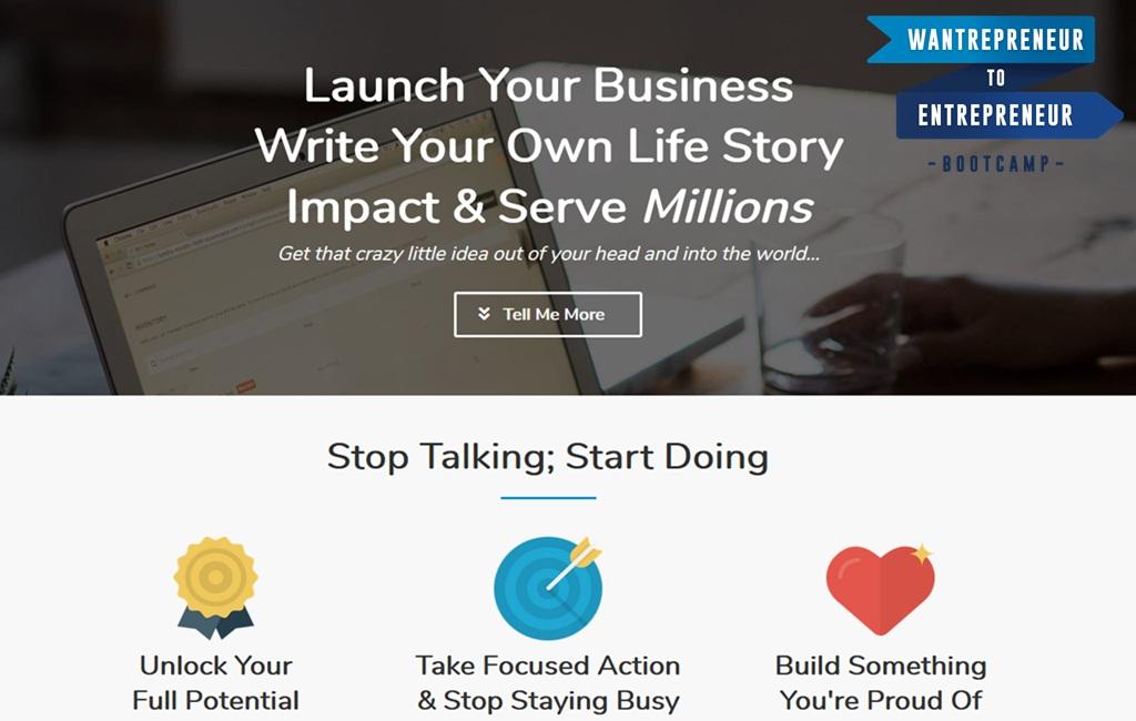 Wantrepreneur to Entrepreneur Bootcamp